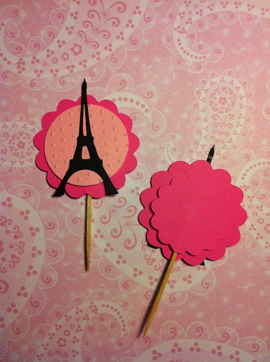 eiffel tower cupcake toppers