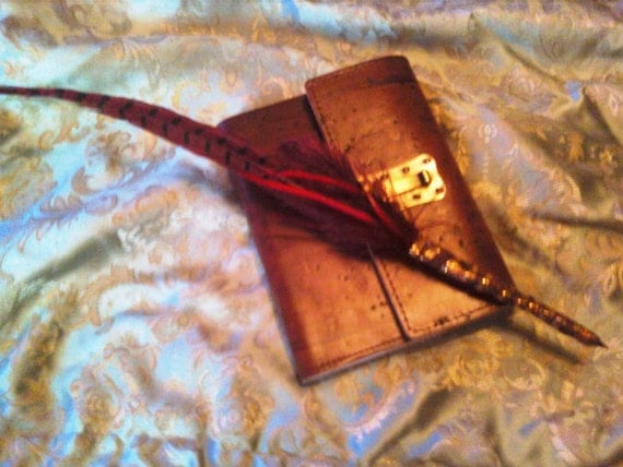Red and Brown Quill Pen