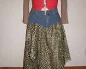 Denim-African skirt