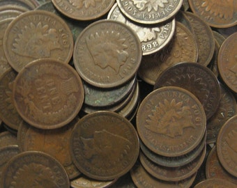 Fifty Indian Head Cents - Vintage very nice. Perfect for Collecting and Project Making
