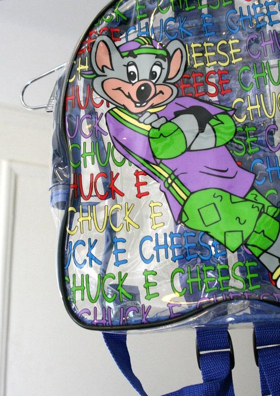 S A L E 90s Clear Pvc Chuck E Cheese Mini Backpack