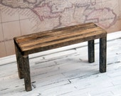 Weathered looking dollhouse miniature desk / furniture 1 inch 1/12 scale