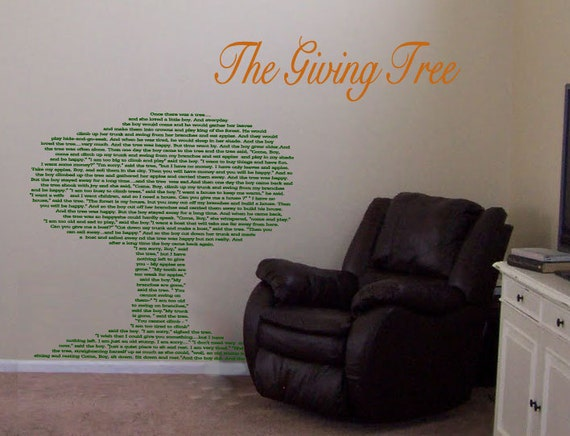 Shel Silverstein Wall Decal: Items Similar To Giving Tree Shel Silverstein Quote
