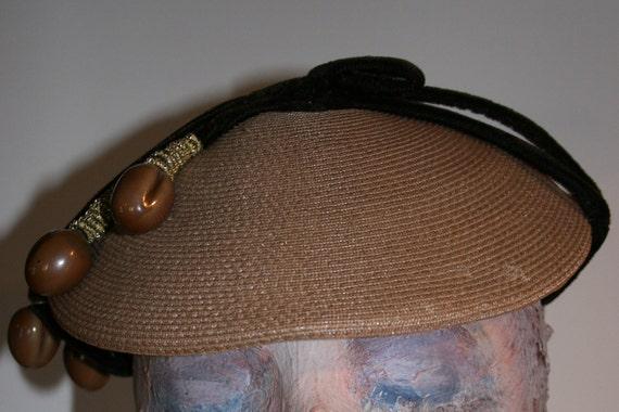 Vintage 1940s Couture Percher Hat