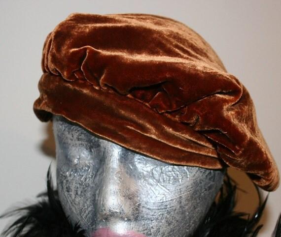 Silk Velvet Slouch Hat