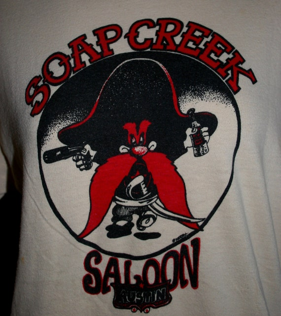 Vintage soap creek saloon by kerry awn t shirt for T shirt printing in colorado springs
