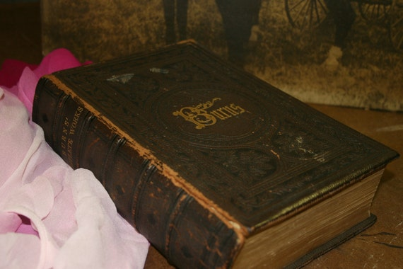 """1864 Edition """"Burns' Complete Works"""" Book"""