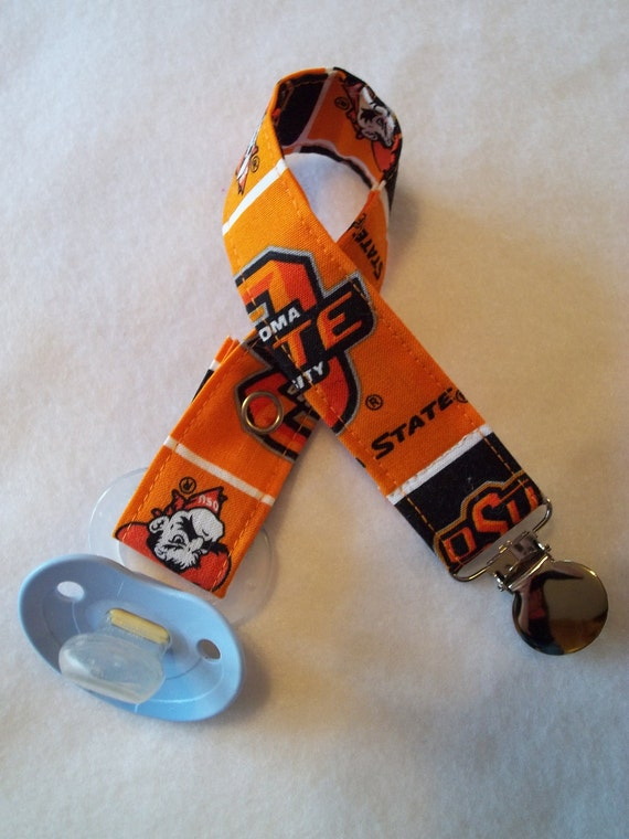 Oklahoma State Cowboys Pacifier Clip