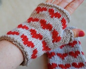Heart Mitts knit PATTERN