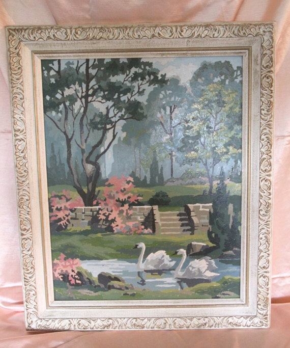 1950's Paint by Number With Original Frame