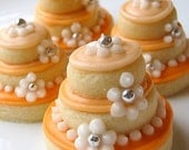 RESERVED ORDER Sugar Cookies Wedding Cake Stacked Iced Cookies Silver