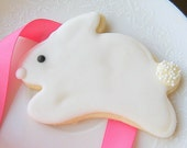 White Rabbit Decorated Cookie Bunny Iced Sugar Cookies Easter Baket Gift