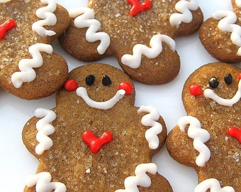 Cookies Gingerbread Men Mini Christmas Cookies Ginger Molasses Holiday