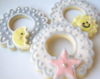 Sugar Cookies Baby Shower Sun Moon Star Cookie Wreaths