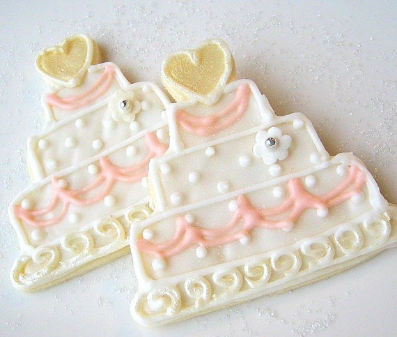 wedding cake cookie favors wedding cookie favor wedding cake iced by sugarmedesserterie 22237
