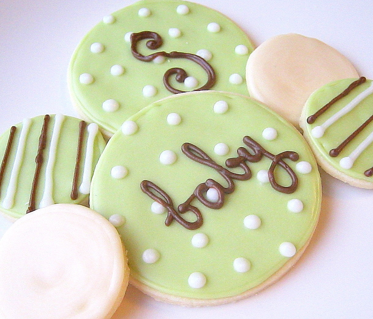 Decorated Round Cookies Round Sugar Cookies Iced