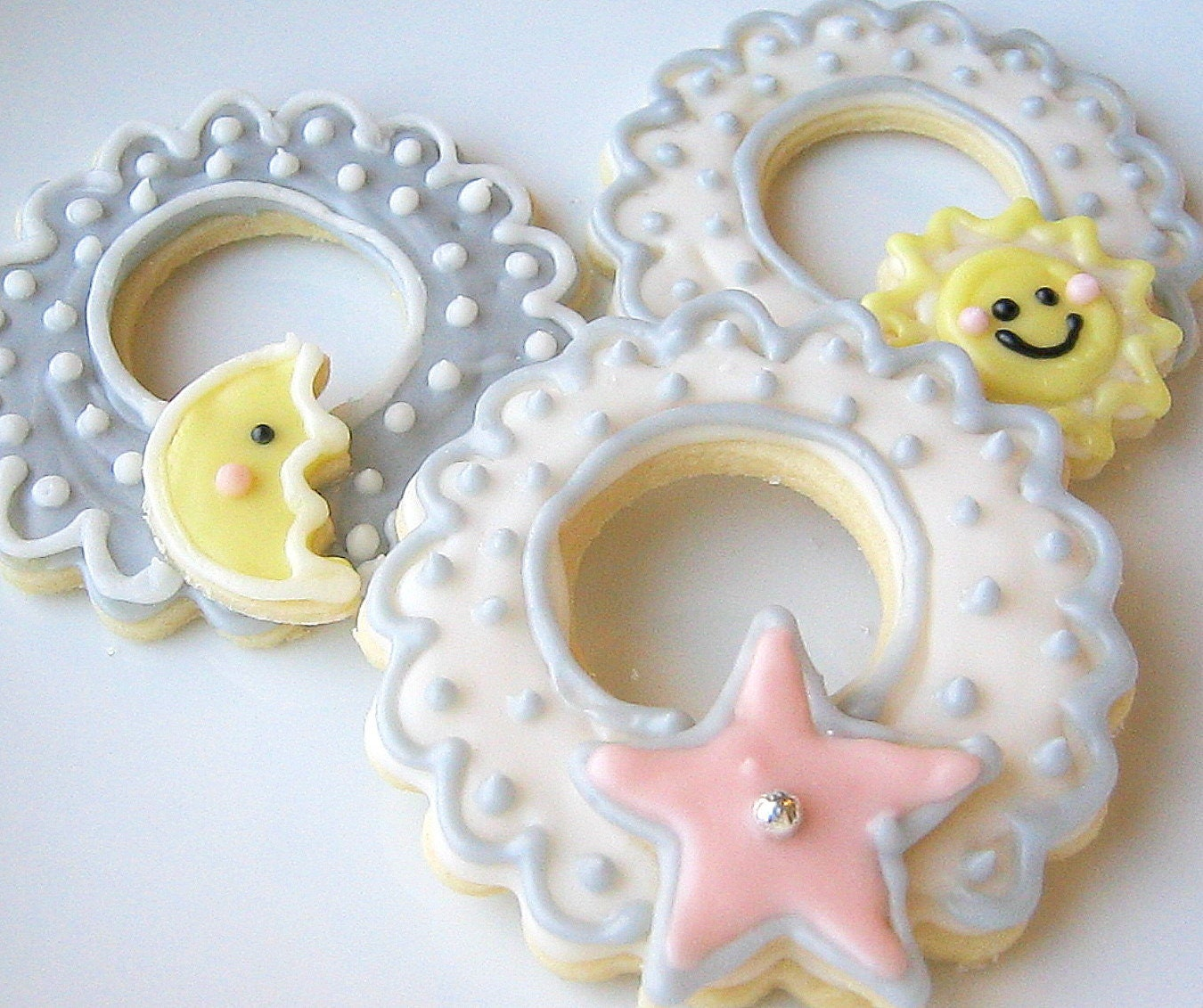 sugar cookies baby shower sun moon star by sugarmedesserterie