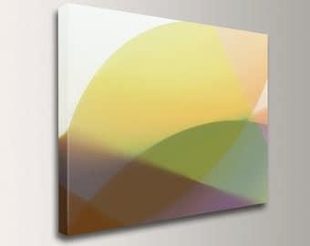 "Abstract Wall Decor - Digital Print - Modern Art - Minimalism - Yellow, Olive, Violet - ""Mira"""
