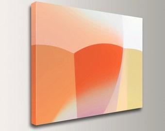 "Orange and Peach Wall Decor - Canvas Print - Minimalist Art - ""Vega"""