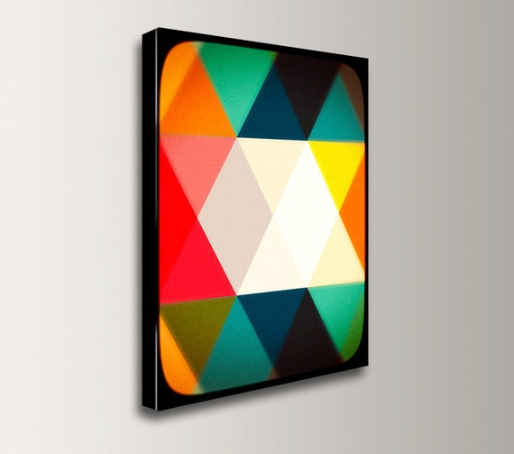 "Mid Century Modern Art, Geometric Art, Wall Art - Canvas Print, Wall Decor, Scandinavian Print - ""Crystalline"""