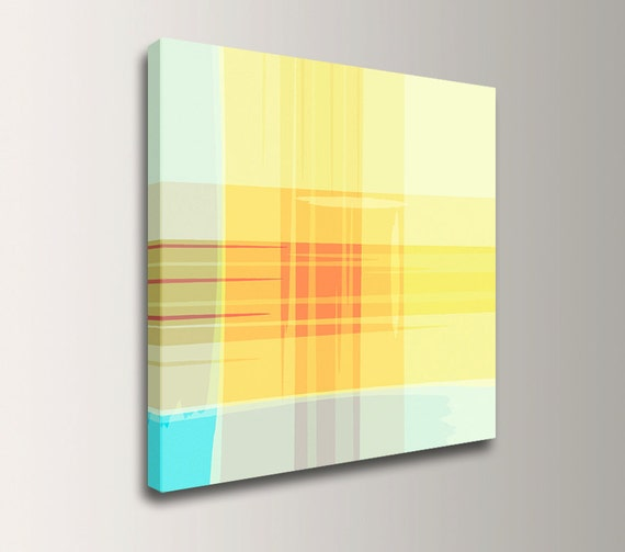 "Yellow Art - Stripe Painting - Bright Colors - Colorful Art - Canvas Print - ""Innerlight"""