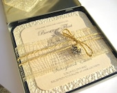 Nautical Themed Wedding Invitations in a Metal Tin Case
