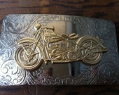 Triumph Style Motorcycle Belt Buckle