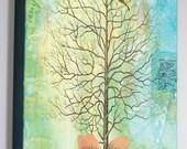 """Wisdom Tree 8"""" x 10"""" x 3/4"""" Art Wood Panel"""