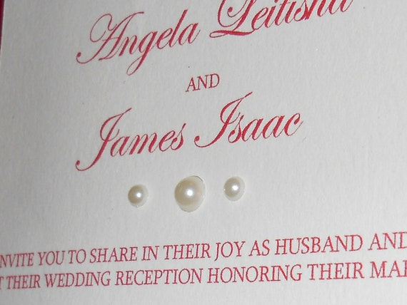 Embroidered Gate-folded Invitation