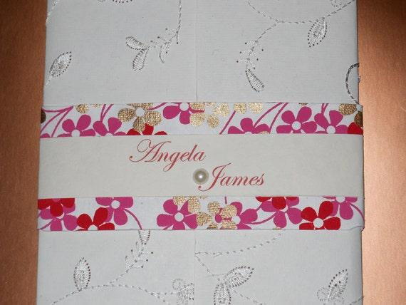 Embroidered Gate-folded Invitation