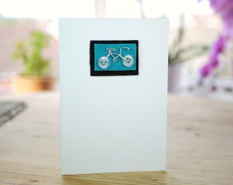Vintage Button Bicycle Greeting Card (various colours)