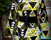 Oh Daisy Love Your Triangles Vintage Black and Yellow dress