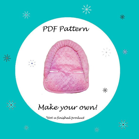 Head Support for Infant Car Seat  Pattern-PDF Pattern-Ebook Pattern - Instant Download