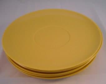 Yellow Laguna Melmac set of 6 saucers