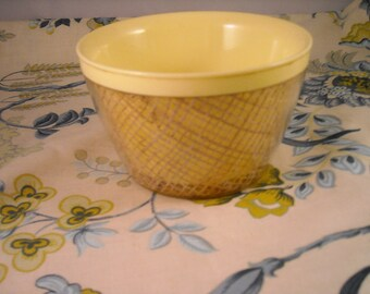 Melmac Rafia Yellow Bowl B2