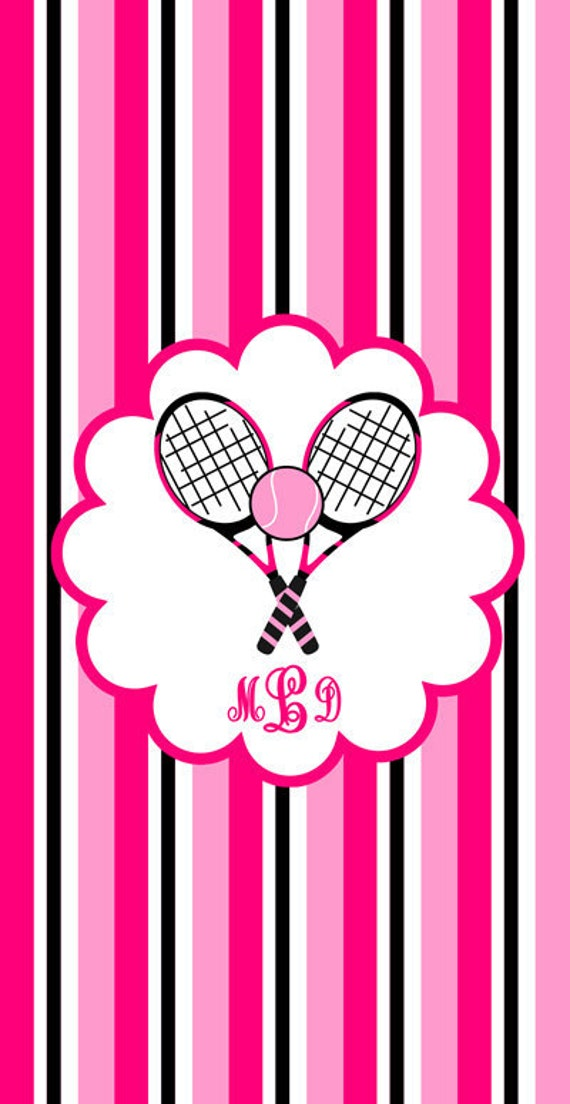Personalized Beach Towel - Tennis