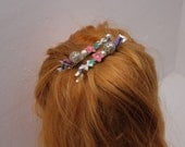 Set of 2 Vintage Upcycled Trinket Bridesmaid Hairclips FREE UK Postage