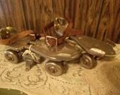"Vintage Metal ""Kingston Olympic"" Roller Skates"