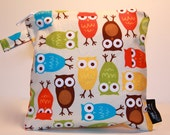 Wet Bag or Eco-Bag Small - Waterproof - Urban Zoologie - Owls Bermuda