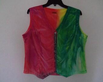 Girls Vest, Size extra large, 100% cotton, OOAK