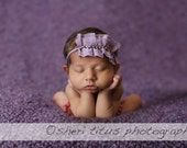 Lavender headbands, baby headbands, newborn headbands, purple baby headbands, photography prop