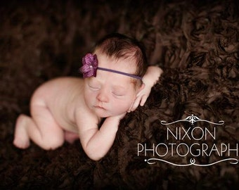 Purple hydrangea flower headband, baby flower headbands, newborn headbands, photography prop