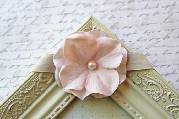 Light Pink Hydrangea Flower Headband, flower headbands, baby headband, pink headbands, child headbands, newborn headband, photography prop