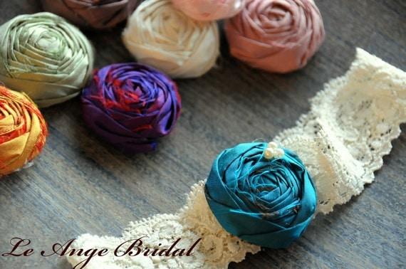 Silk Garter SET/ Wedding Garter/ Garter Set/ Bridal Garter/ Dupioni Silk/Vintage Wedding Garter