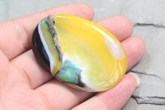 Oval  Agate  Pink  Pendant  Bead  55mm x 38mm
