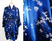 On Sale - Vintage Chinese Dressing Gown with Kimono Sleeves - One Size Fits All