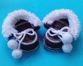 CROCHET PATTERN Baby Booties: Winter Baby Moccasins pdf