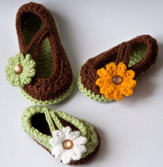 Crochet Baby Shoes Mary Jane Pattern : CROCHET PATTERN Baby Booties: Daisy Baby Mary Jane Shoes pdf