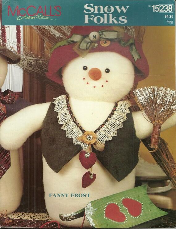 Snow Folks McCall's Creates Craft Pattern Book