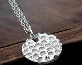 Coral Necklace - Fine Silver